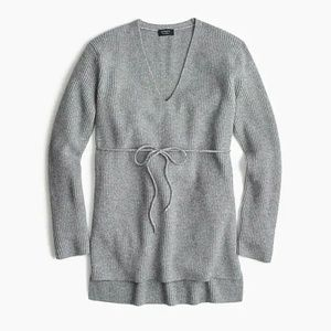 J.Crew Ribbed V-neck tunic in everyday cashmere-H4